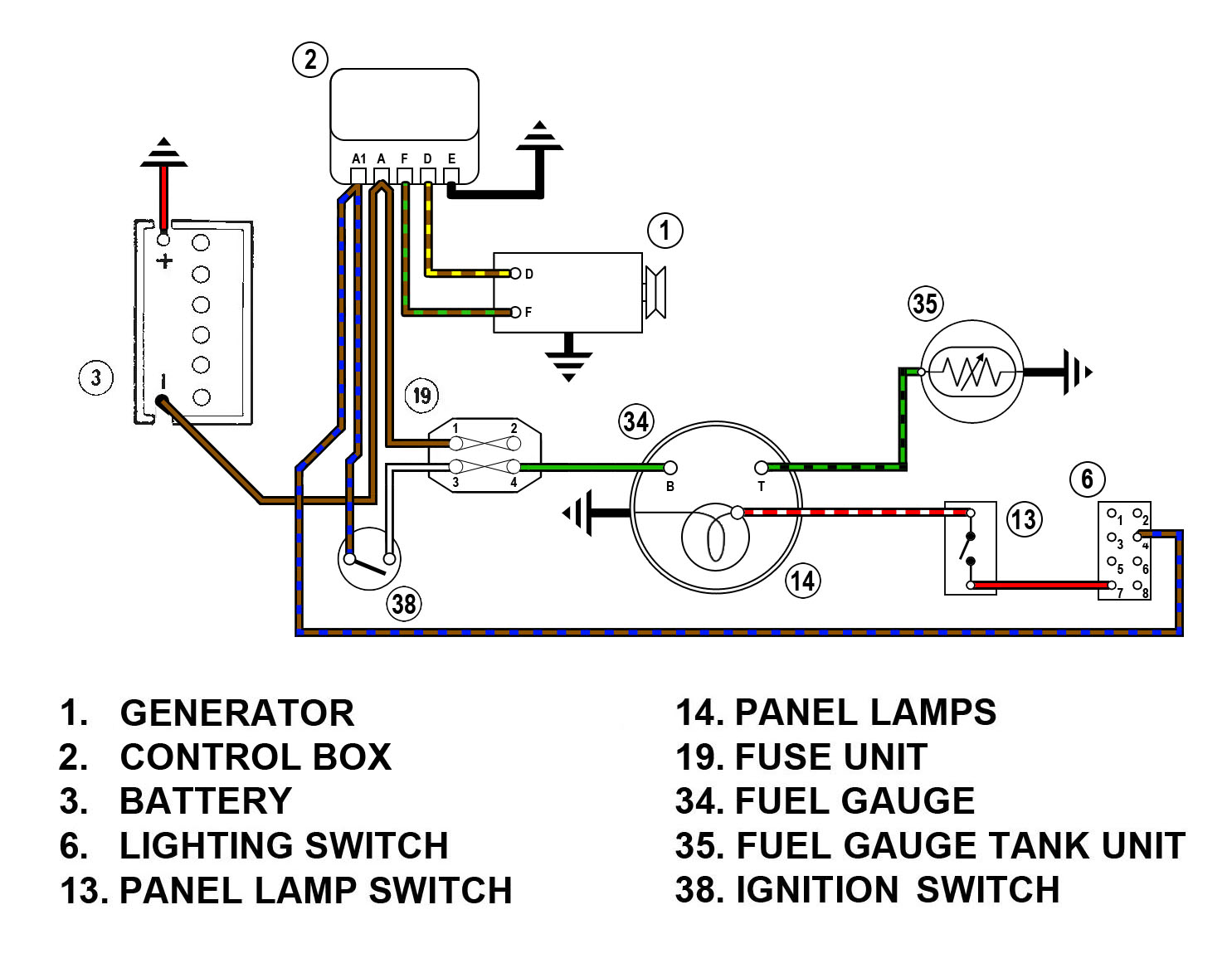 fuel gauge wiring diagram marine fuel gauge wiring diagram fuel gauge wiring diagram spridgetguru com tech index fuel gauge wiring diagram
